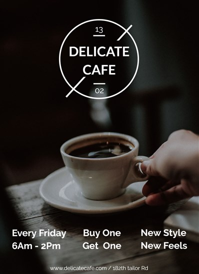 Cafe Flyer A4 Paper Mockup for Coffee Shops- Design Hooks |New Coffee Shop Flyer