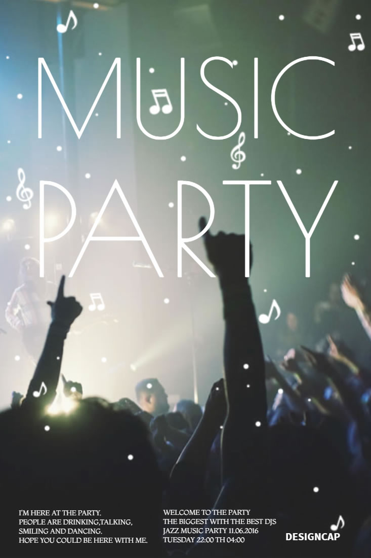 pop music party flyer