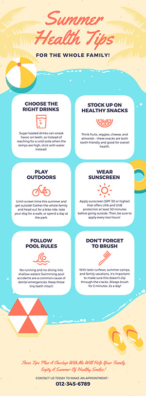 Summer Health Tips Infographic Design