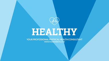 Health Consultant YouTube Channel Art Design