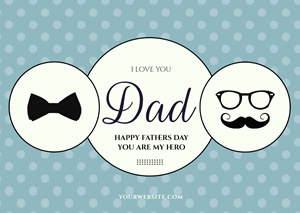 Fathers Day Love You Card Design