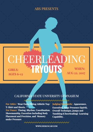 Club Recruit Cheerleader Flyer Design