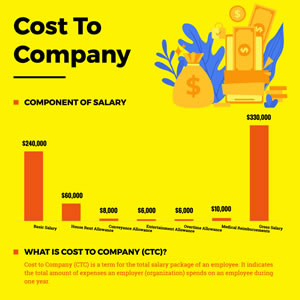 Cost To Company Column Chart Design
