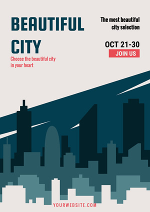 Beautiful City Selection Poster Design