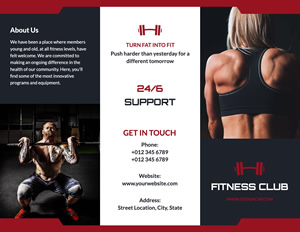 Cardio Exercise Brochure Design