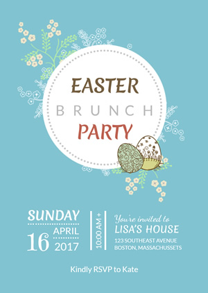Lovely Easter Invitation Design