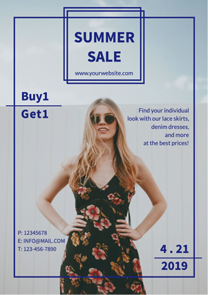 Fashion Collection Summer Sale Promotional Flyer Design