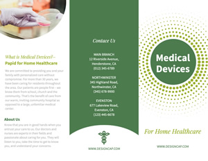 Medicine and Biology Brochure Design