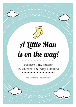 Cute Baby Shower Invitation Design