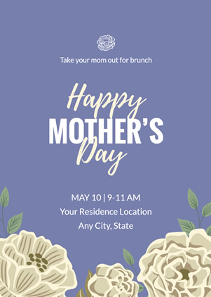 Simple Mother's Day Invitation Design