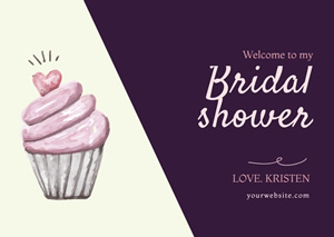 Simple Wedding Bridal Shower Card Design