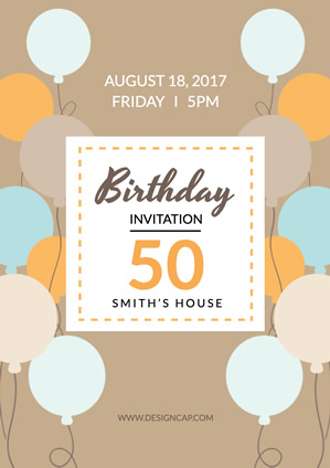 Smith 50 Birthday Poster design