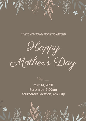 Happy Mother's Day Party Invitation Design