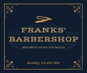 Elegant Barbershop Facebook Post Design