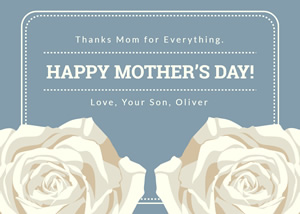 Elegant Mothers Day Card Design
