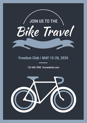 Simple Bike Travel Recruitment Poster Design