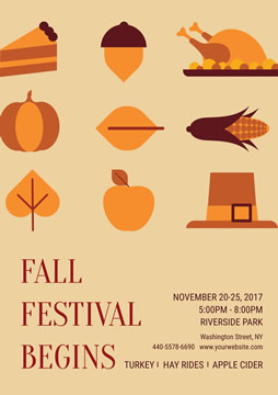 Holiday Fall Festival Poster Design