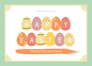 Colorful Egg and Easter Card Design