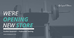 Fitness Store Ad design