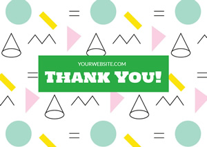 Colorful Thank You Card Design