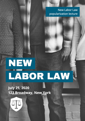 Worker Photo New Labor Law Lecture Poster Design