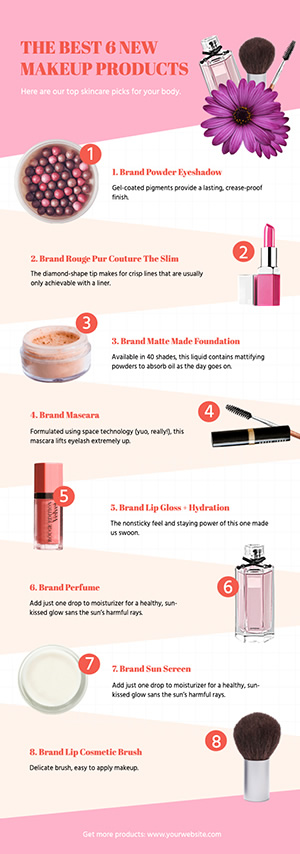 Cosmetic Products Infographic Design