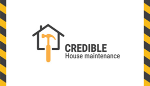 Credible House Repair Card Business Card Design