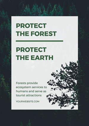 Vivifying and Green Forest Poster design