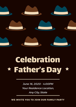 Father's Day Party Invitation Design