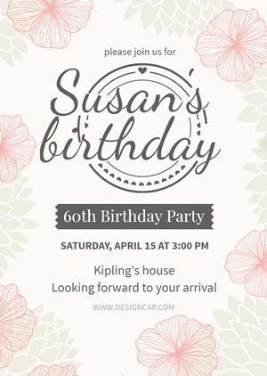 60th Birthday Invitation Design