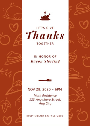 Vintage Thanksgiving Invitation Design