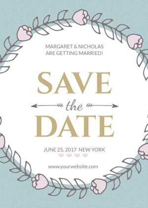 Beautiful Save the Date Invitation Design