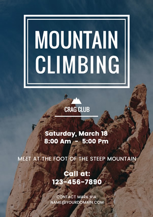 Climbing Photo Club Flyer Flyer Design