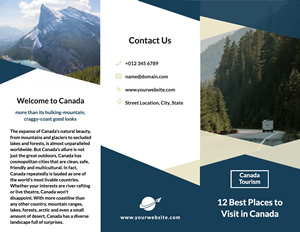 Nature Travel Brochure Design