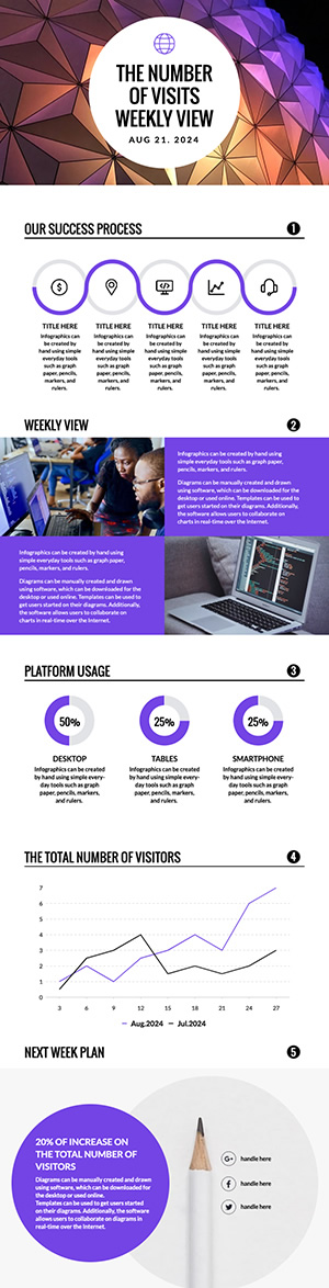 Website Weekly View Infographic Design