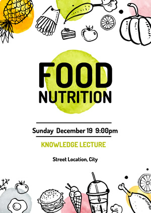 White Food Nutrition Lecture Poster Design