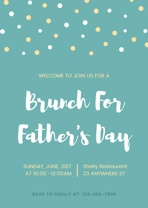 Simple Father's Day Invitation Design