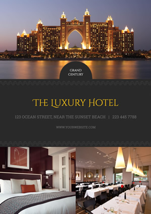 Luxury Hotel Poster Poster Design