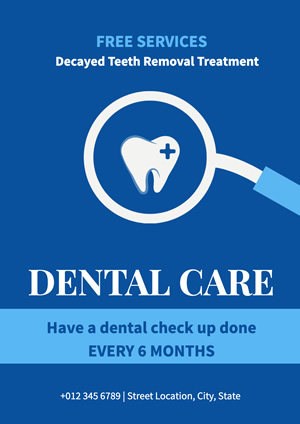 Blue Dental Care Poster Design