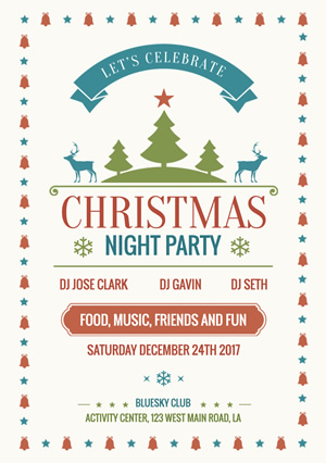 Party Christmas Flyer Design