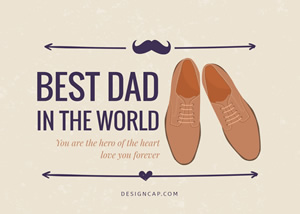 Fathers Day Best Dad Card Design