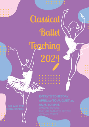 Education Class Ballet Teaching Poster Design