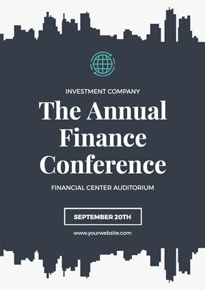 Modern Annual Finance Conference Poster Design