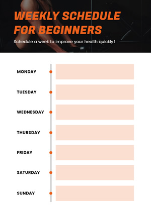 Beginners Workout Schedule Design