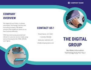 It Company Brochure Brochure Design