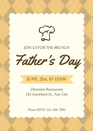 Fathers Day Brunch Invitation Design