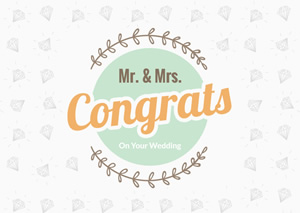 Wedding Congratulation Card Design