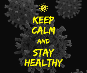 Keep Calm and Stay Healthy Facebook Post Design