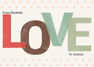 Love Valentine Card Design