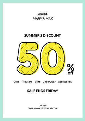 Sale Summer Discount Poster Design